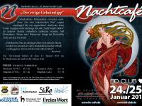 Infoflyer Nachtcafé 2013