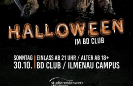 Flyer Halloween im BD CLUB