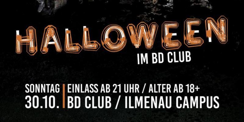 Flyer Halloween im BD CLUB