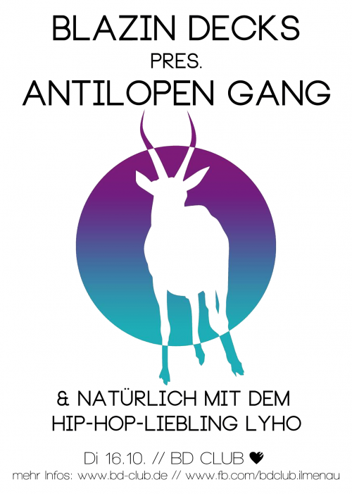 "Blazin Decks pres. ""Antilopen Gang"" & ""LyHo"" [16.10.12]"