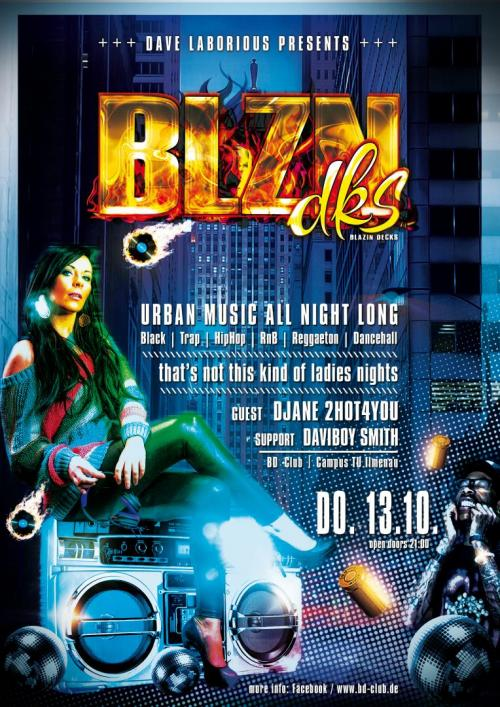 Flyer Blazin Decks feat. 2HOT4YOU