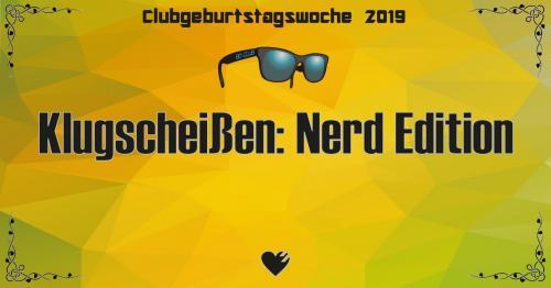 Flyer Klugscheißen: Nerd Edition