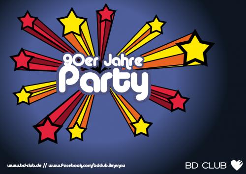 Flyer 90er Party