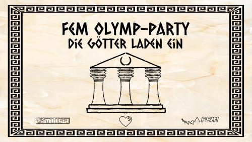 Flyer - FeM Olymp Party - Die Götter laden ein