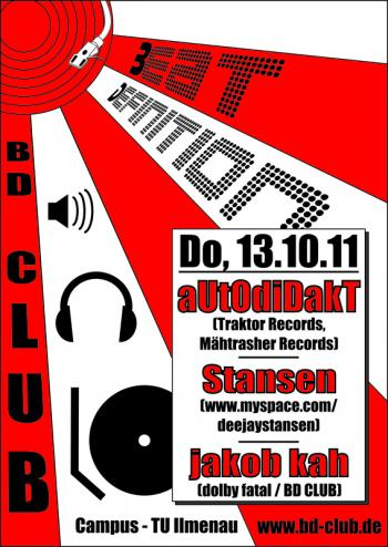 [CGW] [B]eat [D]efinition pres. aUtOdiDakT (Traktor Records) [13.10.11]