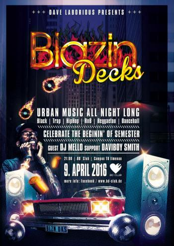 Flyer Blazin Decks